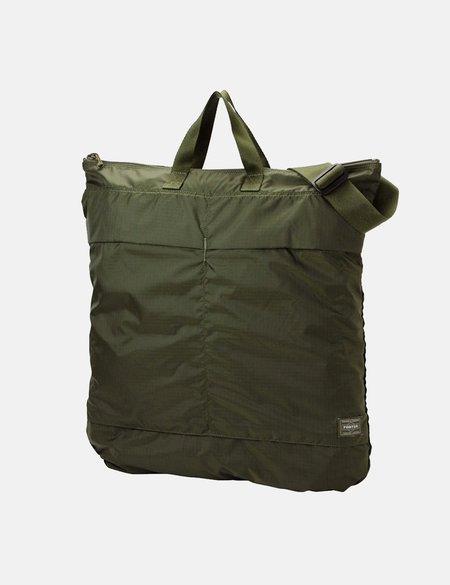 Porter Yoshida & Co Flex 2 Way Helmet Bag - green