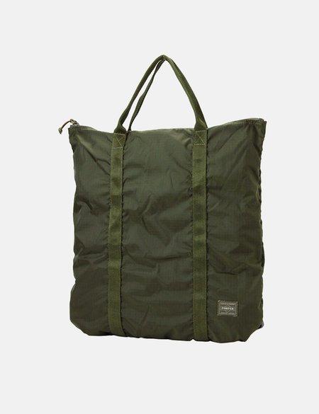 Porter Yoshida & Co Flex 2 Way Tote Bag - Green