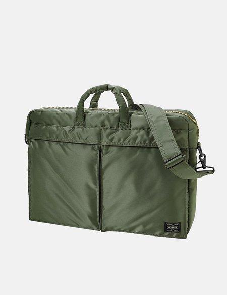 Porter Yoshida & Co Tanker 2 Way Briefcase - Green