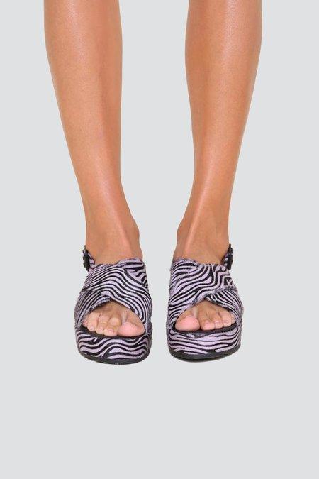 """INTENTIONALLY __________."" Sum SANDALS - Lilac Zebra"