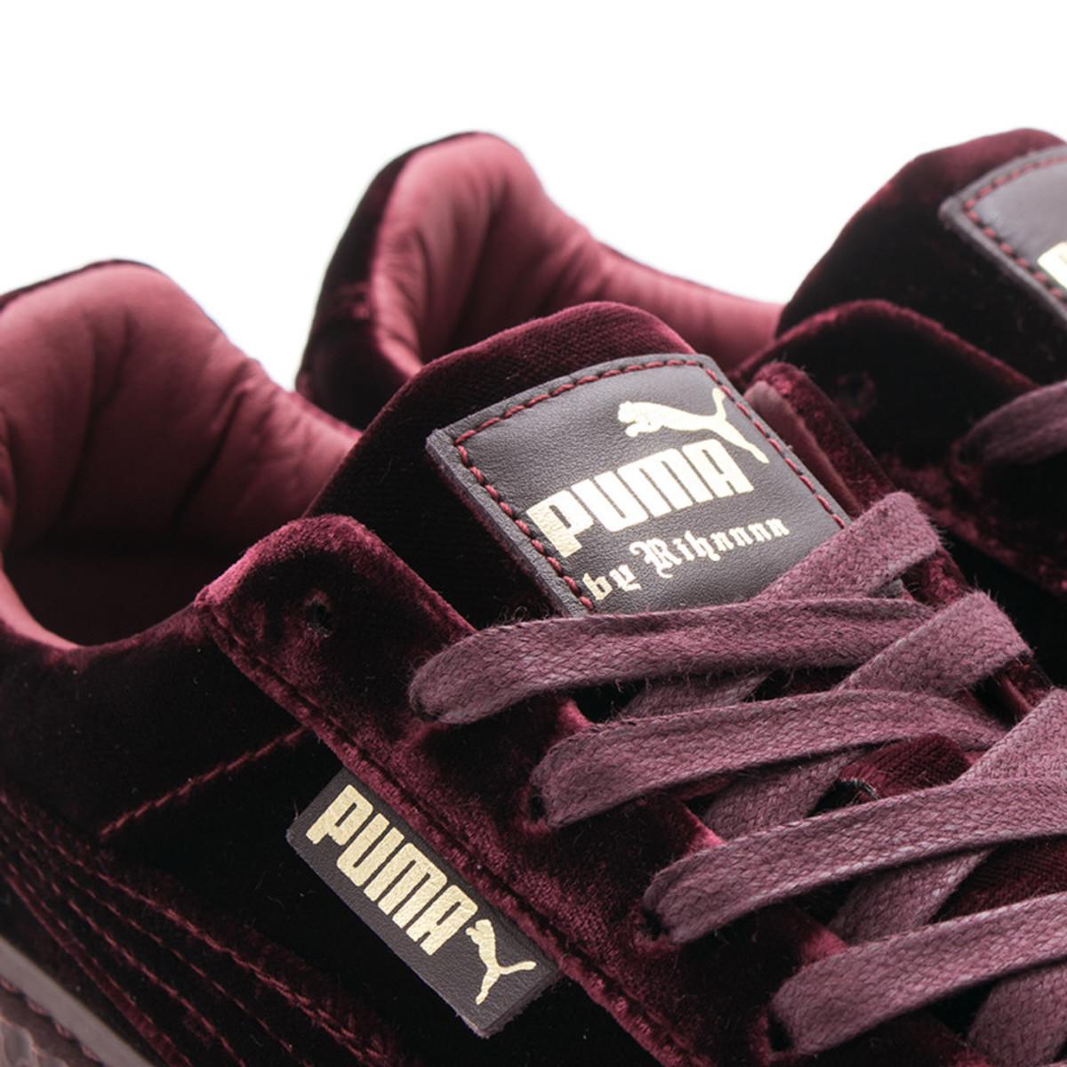 Puma Womens Fenty Creeper Velvet Burgundy Garmentory Maroon No Brand Info