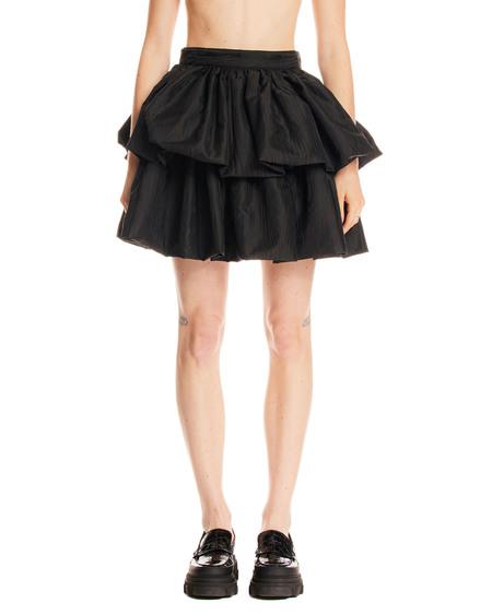 Rotate miniskirt with flounces - Black