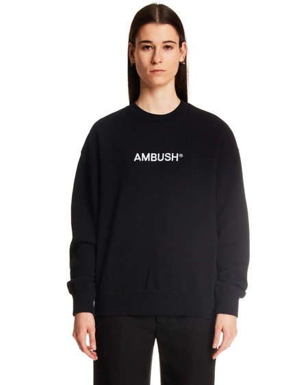 Ambush Logo Regular Sweather - black