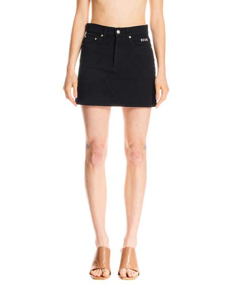 MSGM Denim Mini Skirt - Black