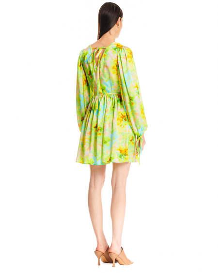 MSGM Short Floral Dress - Multicolor