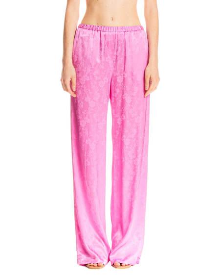 MSGM Silk Pants - Pink