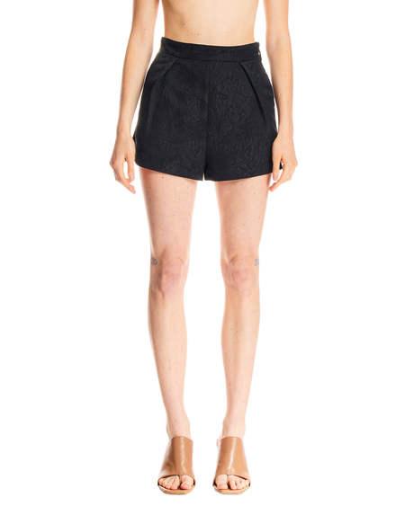 MSGM Jacquard Shorts - black