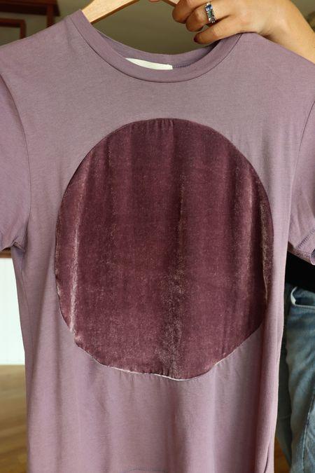 unisex Correll Correll Velvet Circle T-Shirt - Rose
