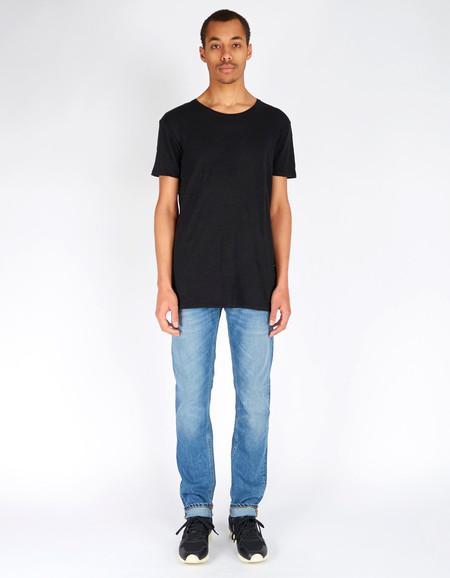Nudie Olle Linen T-Shirt Black