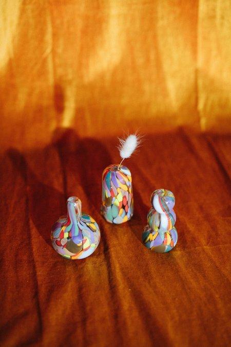 Maria Ida Designs GLASS BLOWN MULTI-COLOR MINI VASE