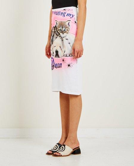 Ashley Williams Kitten & Puppy Skirt - White
