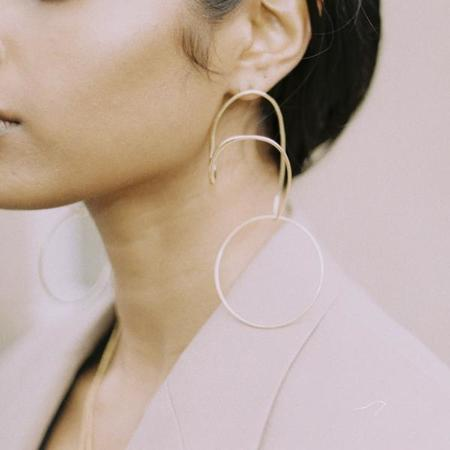 BAR Jewellery Opposing Forms Earrings - Gold Plated