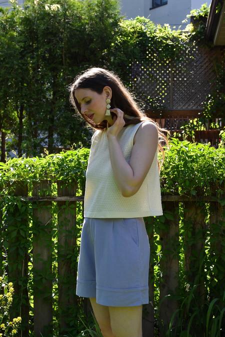 Eve Gravel Opera Shorts - Lavande