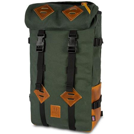 Topo Designs Klettersack Heritage Canvas - Olive Canvas/Brown Leather