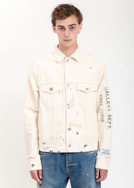 LANVIN Paint Marks Denim Jacket - White
