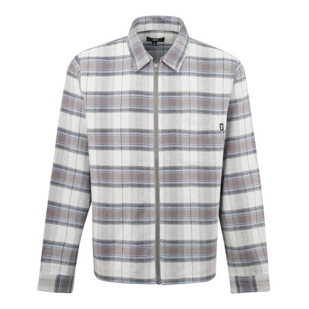 Stussy Heritage Plaid Zip Overshirt - Grey