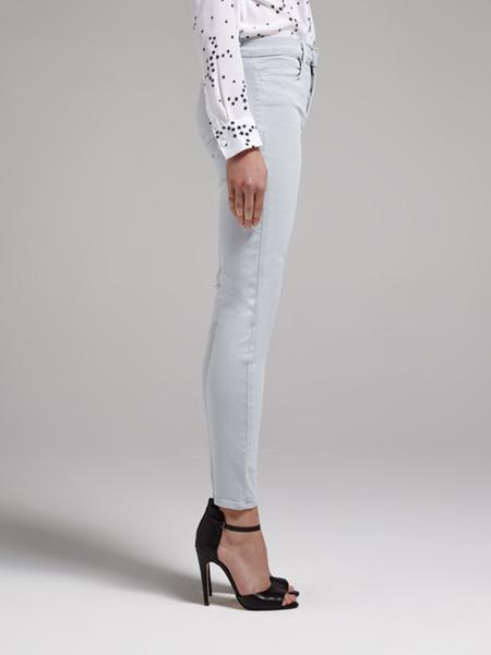 J Brand High Rise Cropped Zip Leg Jeans - Grey