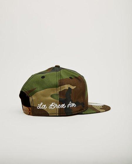 New Era La Brea Ave Chainstitch Dodgers Snap Back hat - WOOD