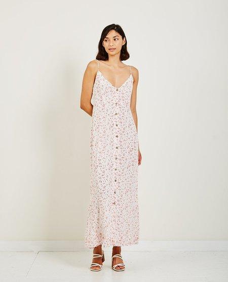 Ganni Printed Georgette Strap Dress - Rose
