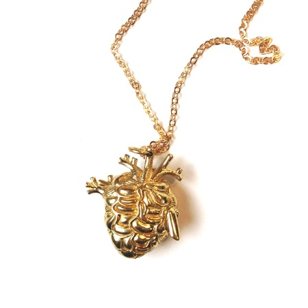 Justine Brooks 'Bronze Anatomical Heart Locket' necklace