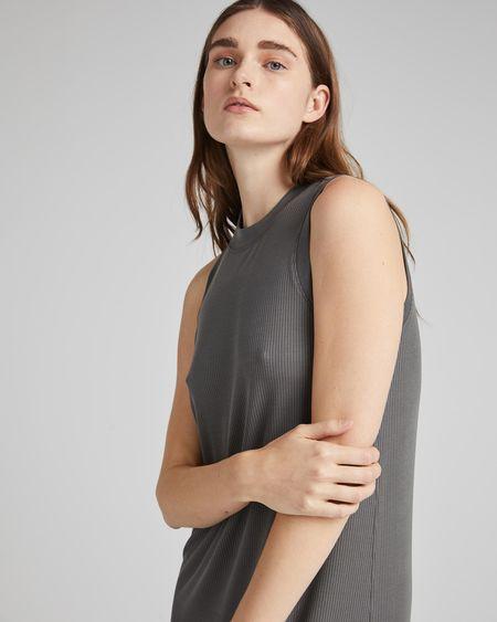 Richer Poorer Vintage Rib Column Dress - gray