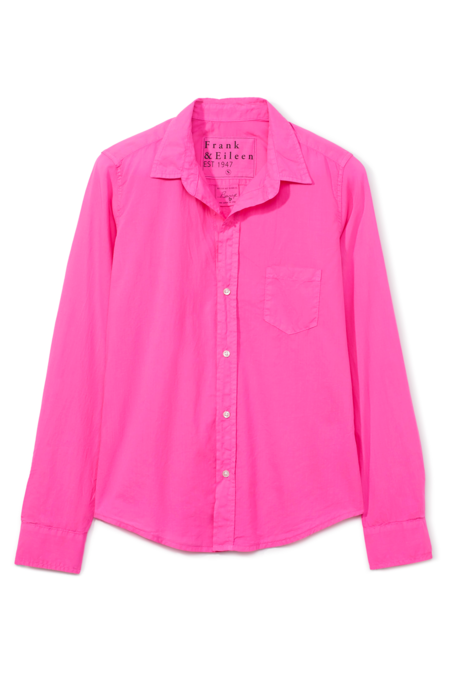 Frank and Eileen Barry Button Up in Poplin - Cotton Candy