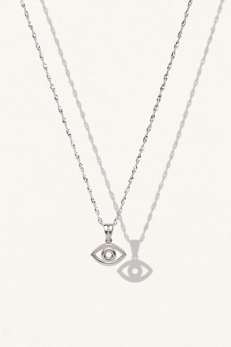 The Silver Stone EVIL EYE NECKLACE