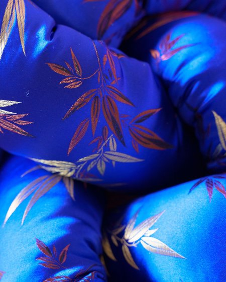Jiu Jie Floral Silky - Royal Blue