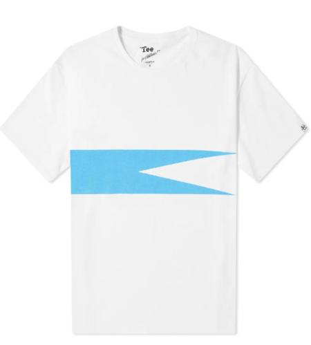Nanamica Coolmax Graphic T-Shirt - White/Blue
