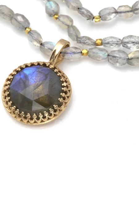 Becky Kelso 14K Pendant Labradorite Necklace
