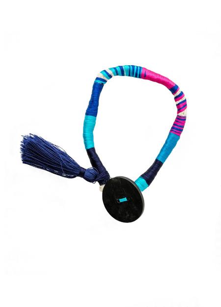 LEMLEM Blue Thread Wrap Bracelet