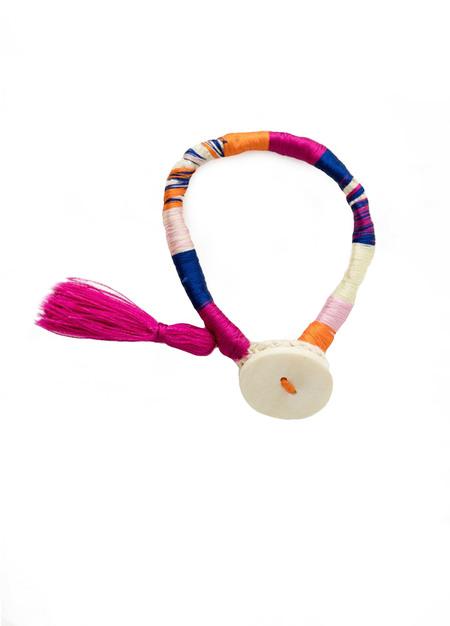 LEMLEM Pink Thread Wrap Bracelet