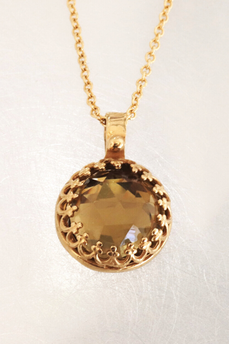Becky Kelso Whiskey Quartz Necklace