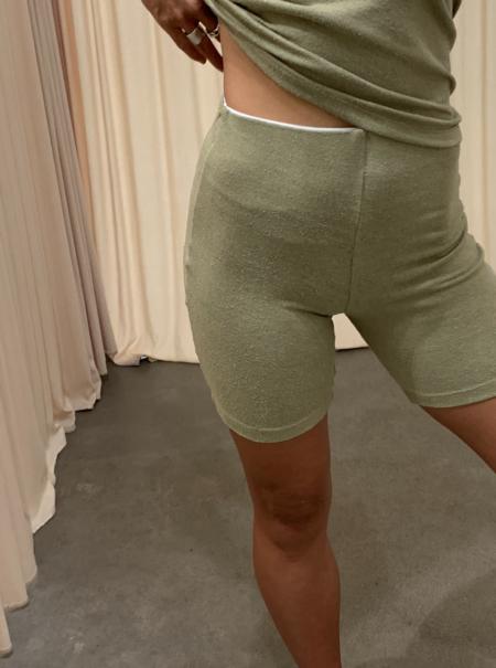 Here. Silk Biker Shorts