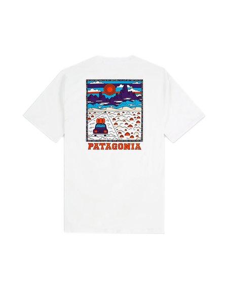 Patagonia Camiseta Ms Summit Road Organic - White