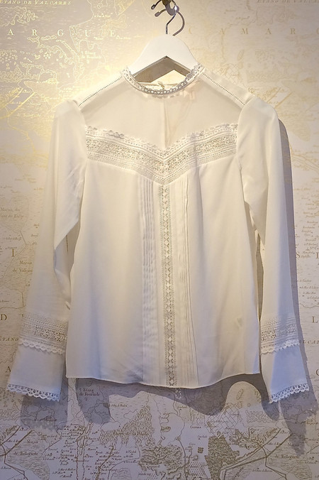 Rebecca Taylor Boho Long Sleeve Blouse