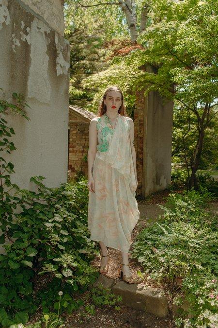 Anntian Asymmetrical Drape Dress