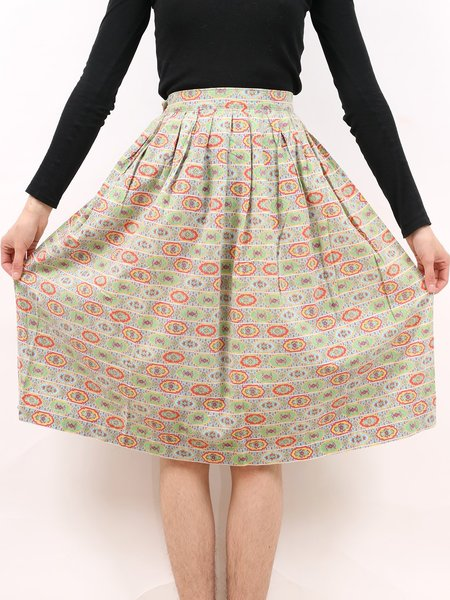 Vintage 50s pattern party skirt - multicolor