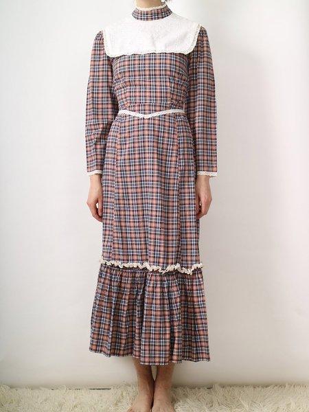 Vintage plaid prairie style dress