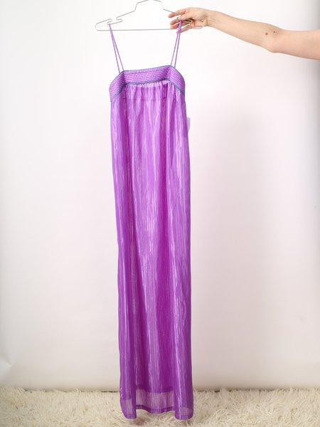 Vintage long slip dress/nightie - purple
