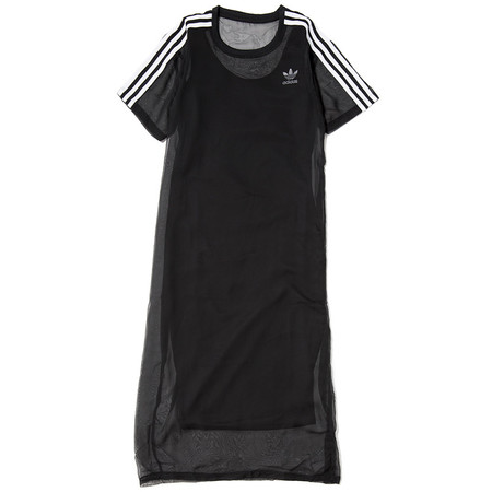 ADIDAS WOMEN'S 3 STRIPES LAYER DRESS / BLACK