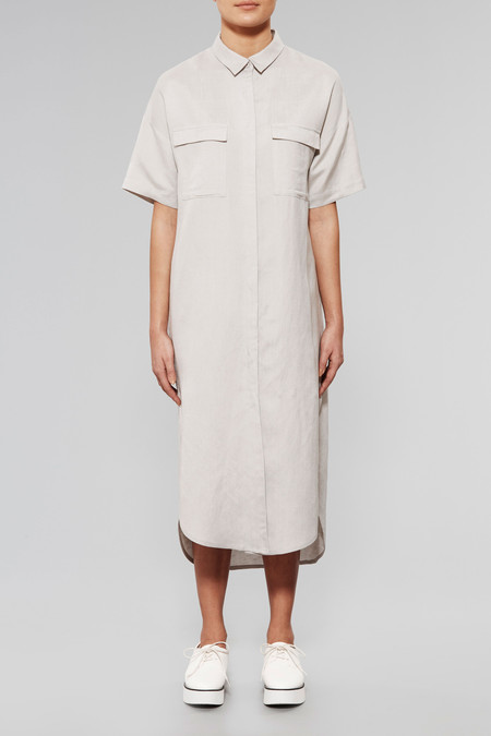 NATIVE YOUTH Ionized Maxi Shirt Dress
