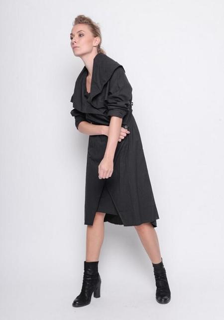 BLACK by K&M Asymmetric Bold Collar Jacket