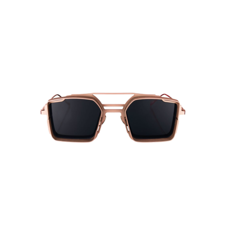 Unisex VYSEN Eyewear Luigi Rose Gold Matte Frame L-6 Sunglases