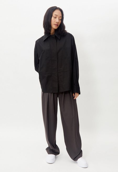 Another Wide Collar Overshirt - Black