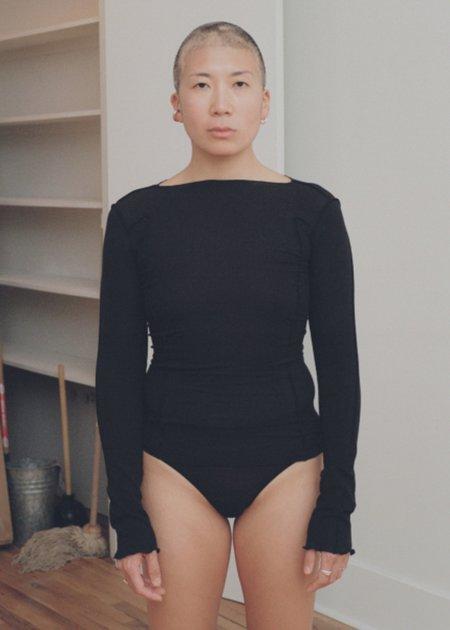 Baserange Omato Long Sleeve Tee - Black