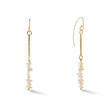 CC & Co Hashtag Pearl Earrings - Gold