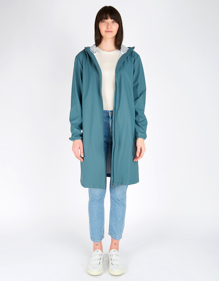 Rains Base Jacket Long Women's Pacific