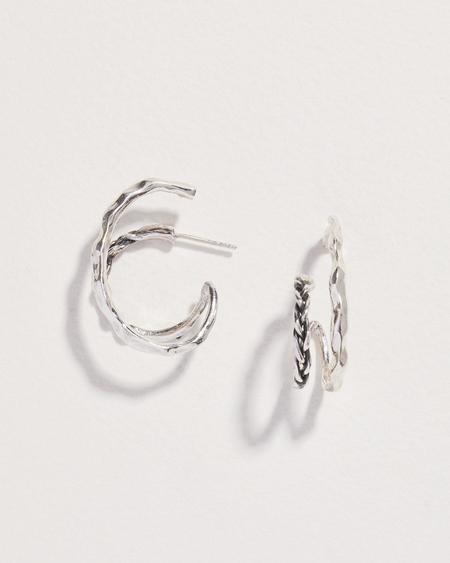 Pamela Love Braided Double Hoop - Sterling Silver