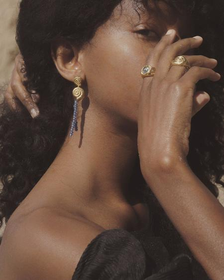 Pamela Love Seashell Drop Earrings